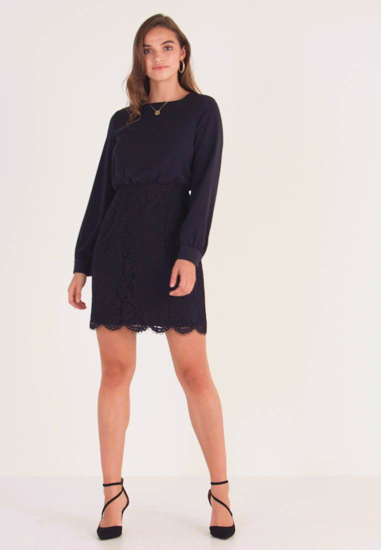 Vero Moda - VMELLIE SHORT DRESS - Juhlamekko - night sky