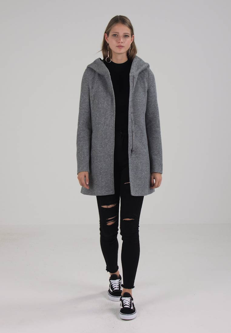 Vero Moda - VMVERODONA - Short coat - light grey melange