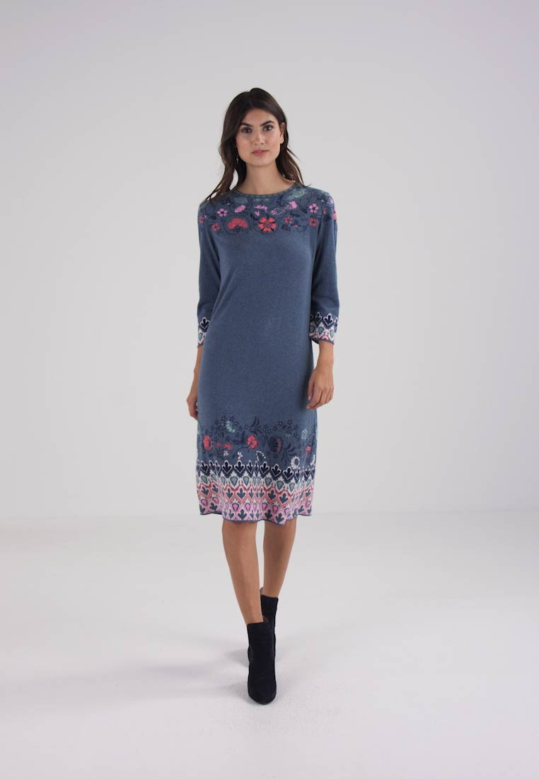 Ivko DRESS INTARSIA PATTERN - Gebreide jurk