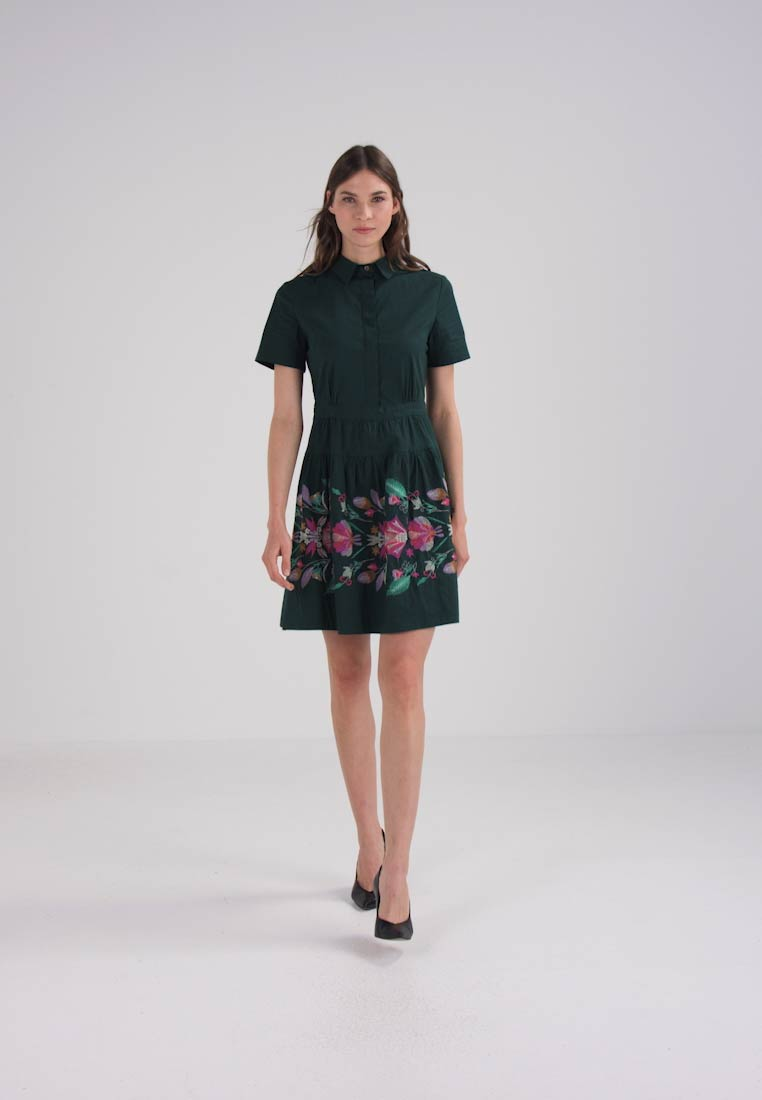 Ivko Forest Embroidery Dress Day Floral rIwHrqCp