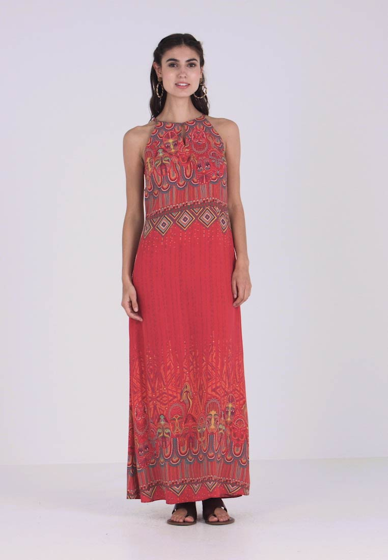 Ivko - LONG DRESS WITH PRINT - Maxi dress - red