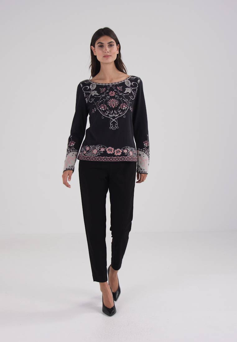 Ivko INTARSIA PATTERN - Jumper - anthrazit