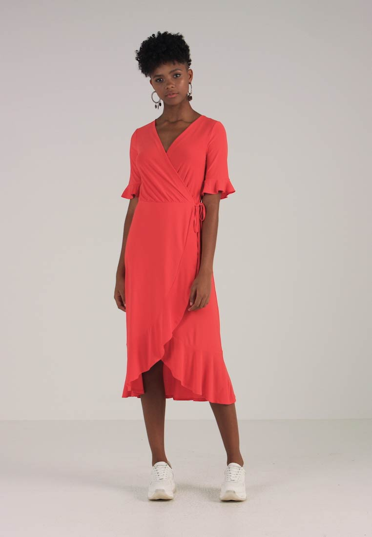 Maxi Line Dress Long Red Warehouse Tea TnCg1xYqY