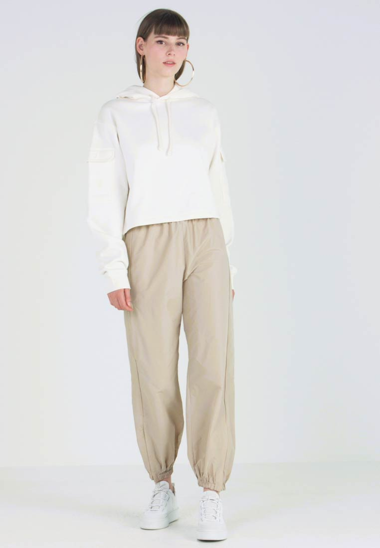 Weekday - ATOMIC TRACKSUIT TROUSERS - Tracksuit bottoms - beige