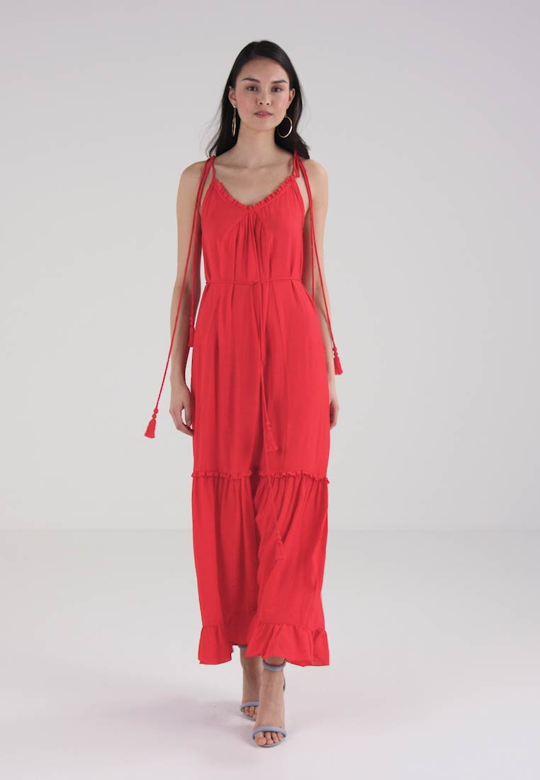 Whistles Red Tie Maxi Dress Tassle rAZxqrwO