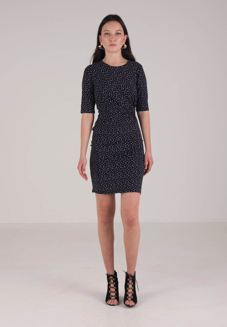 Navy Isabella Tulip Bodycon Shift Printed Micro Dress Whistles RxFf0x