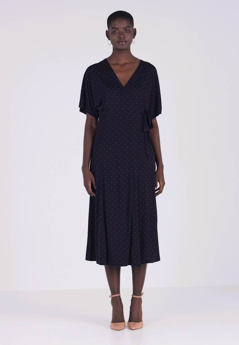 aa4f31d0240 Whistles SPOT WRAP DRESS - Jersey dress - navy - Zalando.co.uk