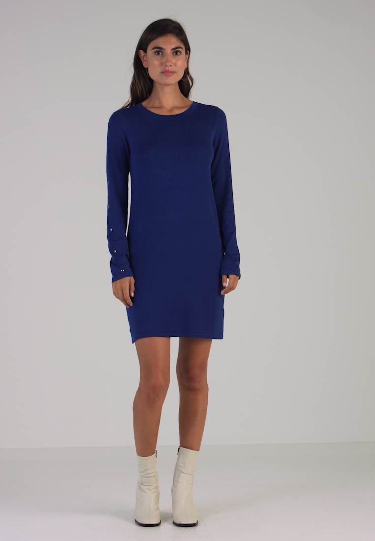 Button Cobalt Sleeve Jersey Dress Tunic Wallis wxqv76dq
