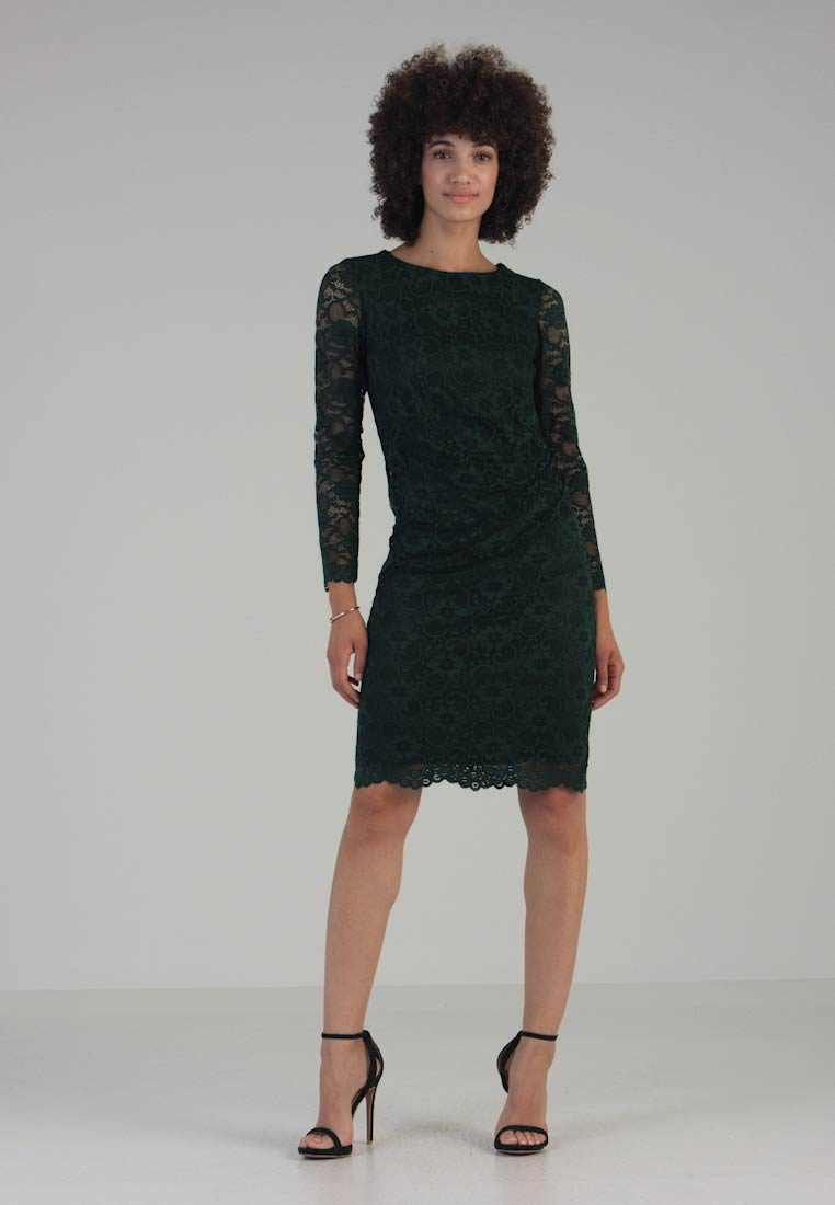 Wallis - RUCH SIDE DRESS - Cocktail dress / Party dress - forest
