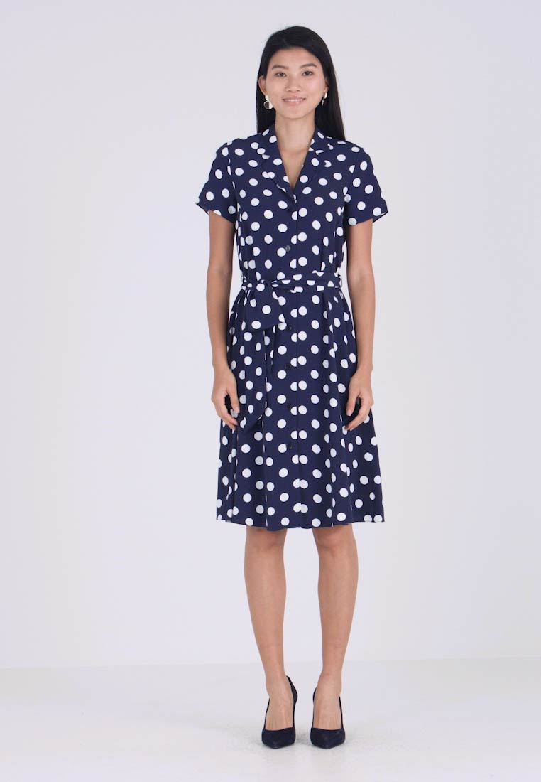 Wallis - SHORT SLEEVE DRESS - Vestido camisero - dark blue