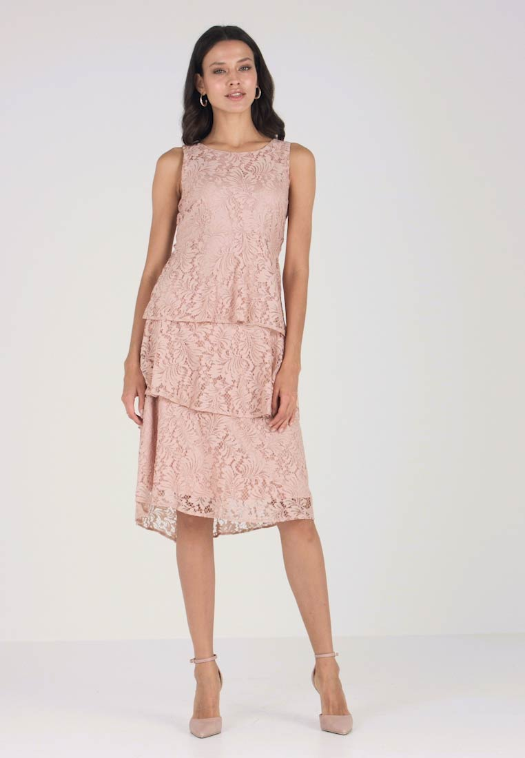 Pink Soirée Zalando Wallis De Tiered Dress Robe fr Dusky Y6bf7yg