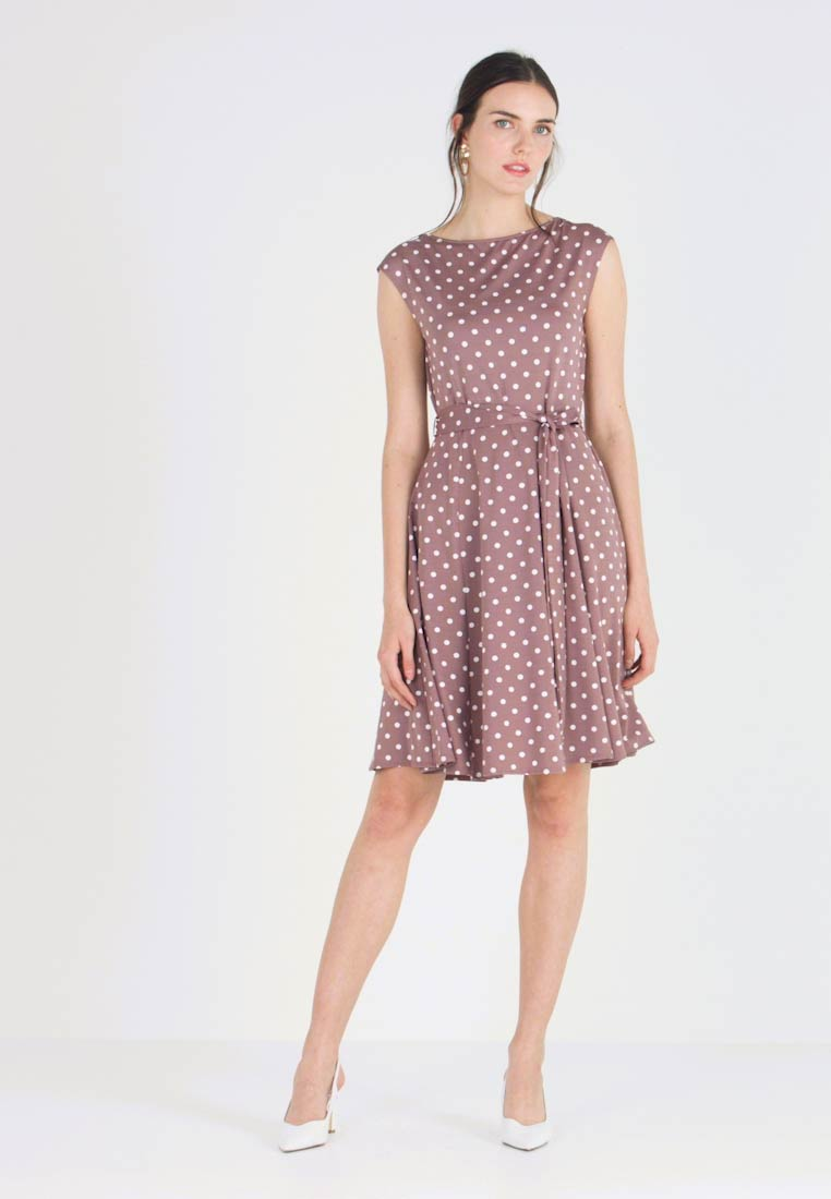 Wallis - POLKA DOTS - Jersey dress - taupe/beige
