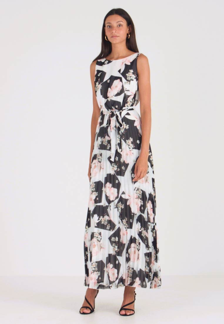 Wallis - FLORAL PLEATED DRESS - Maxikjole - ivory