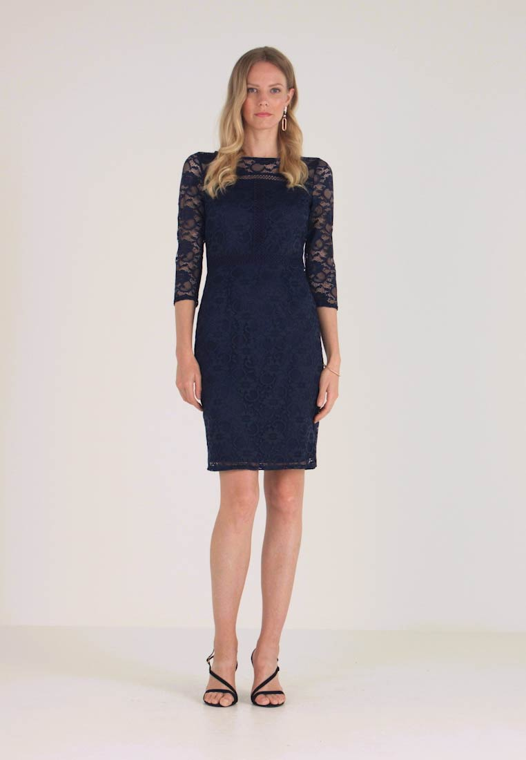 Wallis - INSERT SLEEVE DRESS - Shift dress - ink