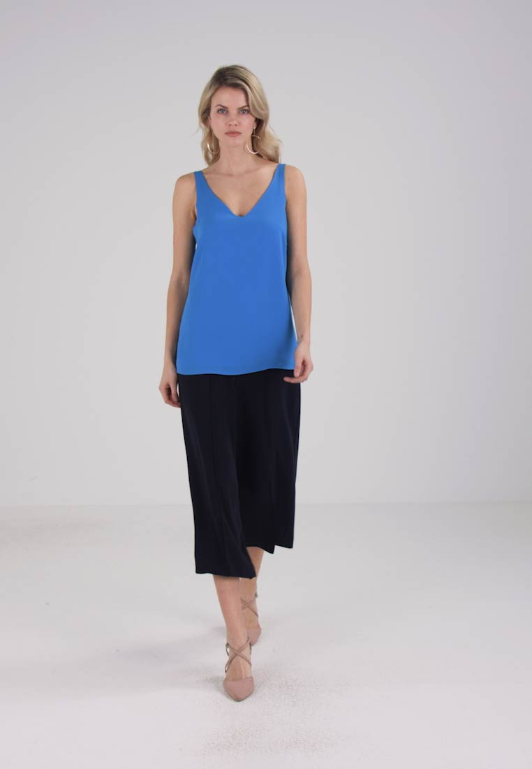 Wallis V NECK CAMI - Bluser - blue