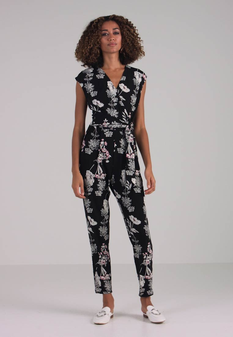 Wallis - FLORAL - Jumpsuit - black