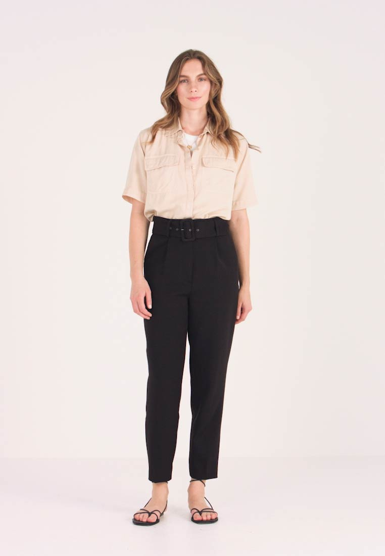 YAS - YASVICCY WIDE PANT - Trousers - black
