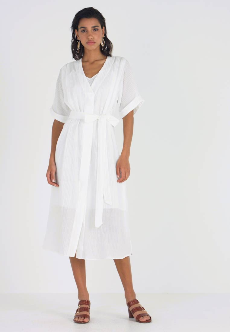 YAS - YASMIKA MIDI DRESS - Vestido informal - star white