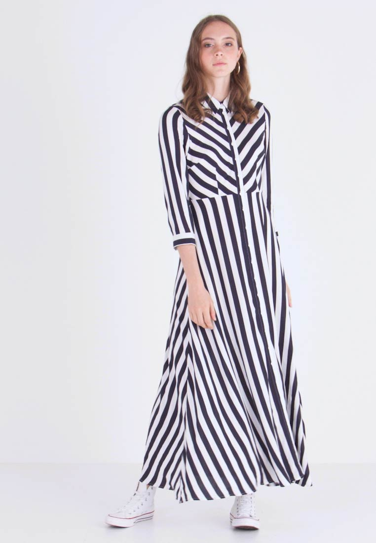 YAS - YASSAVANNA LONG DRESS - Maxikleid - carbon/star white