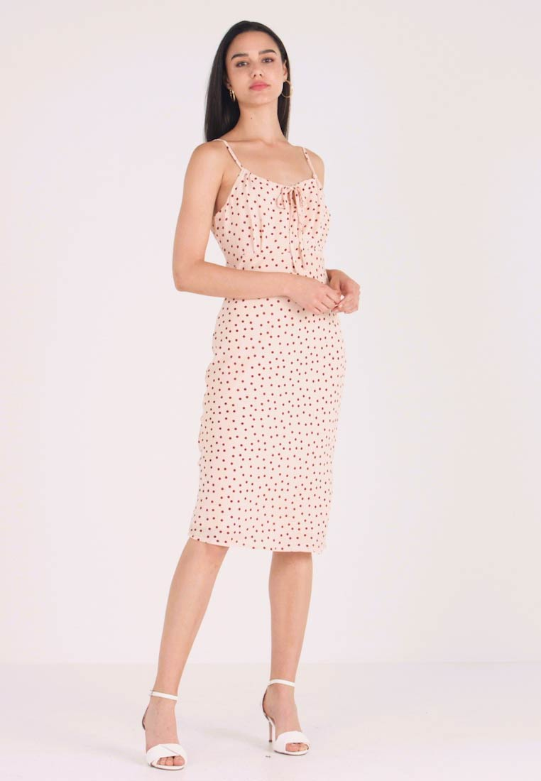 YAS - YASMARLIN STRAP DRESS - Etuikleid - star white