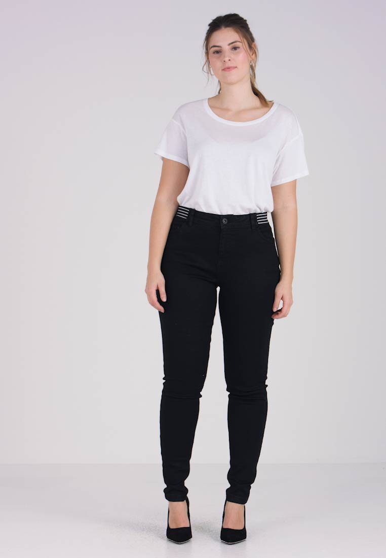Super Amy Slim Zizzi Black Skinny Jeans Fit Long RE6Rqw