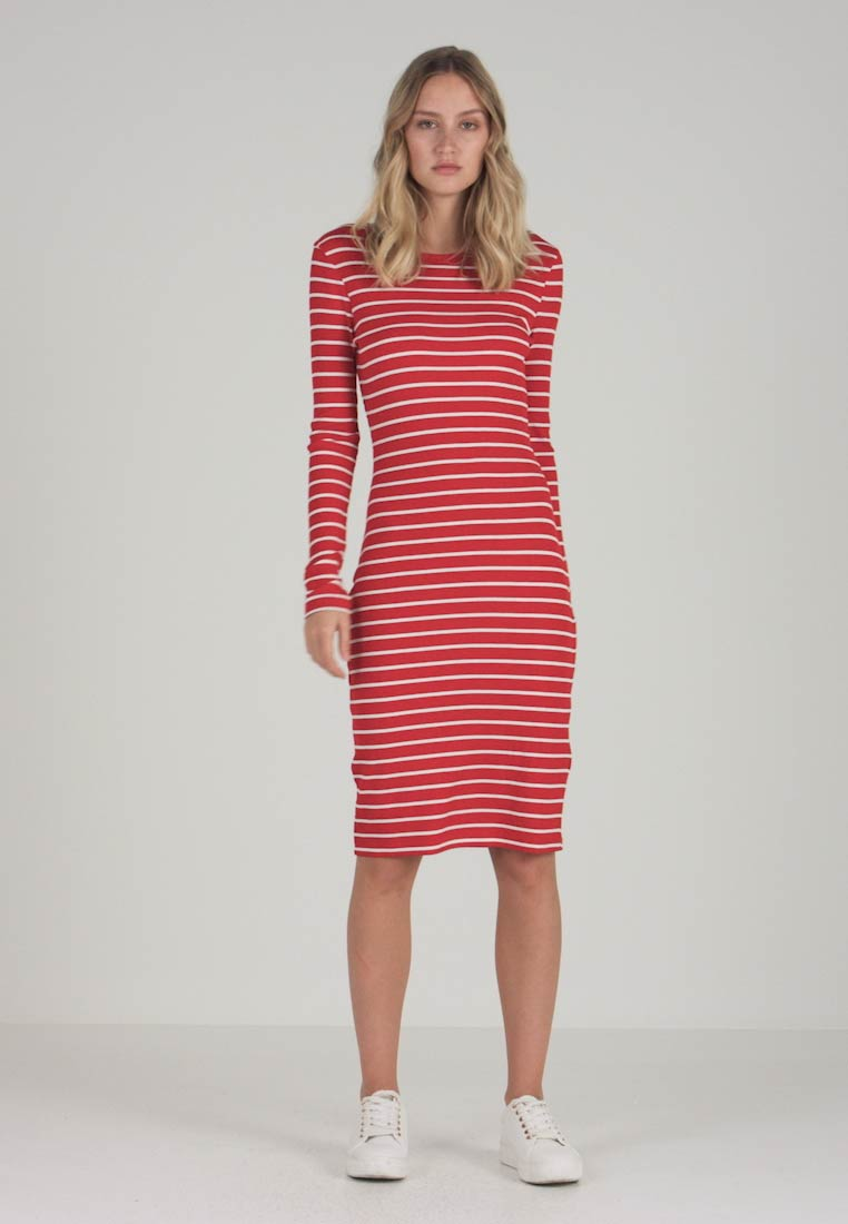 white Strickkleid Essentials Red Red off off Zalando qY5HwY