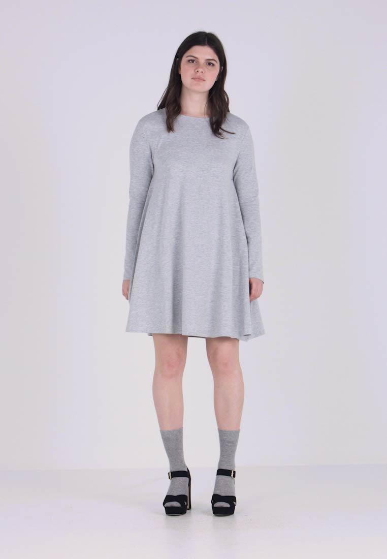 Zalando Essentials Curvy - Žerzejové šaty - light grey melange
